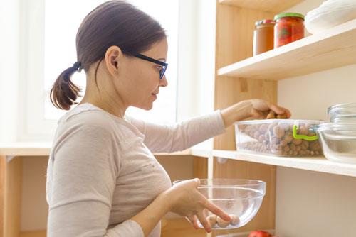 open storage kitchen shelving