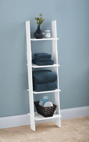 Ladder Shelf in the Bathroom